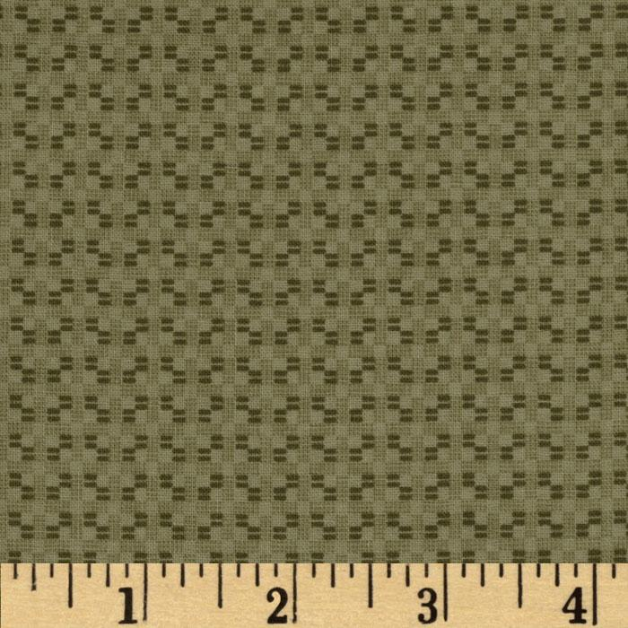 Americana Collection Woven Texture Green