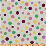 Crazy for Dots &amp; Stripes Tossed Dots White/Purple