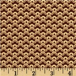 Fly A Kite Damask Brown