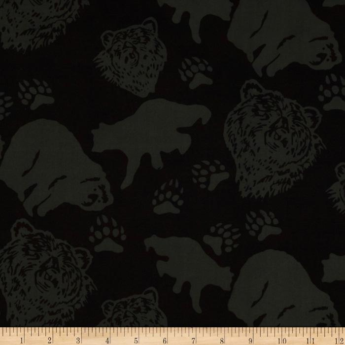 Bali Batiks Bears Black