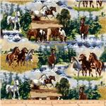 Wild Horses Scenic Horses Blue