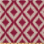 Robert Allen Woven Jacquard Ikat Fret Raspberry