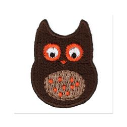Boutique Applique Owl Brown/Multi