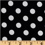 0267937 Brights & Pastels Basics Polka Dot Black