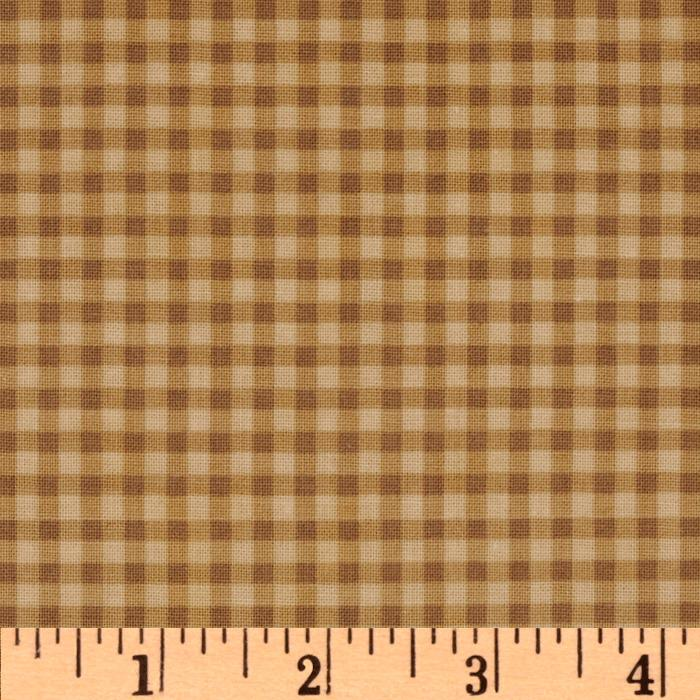 Mod Tod Gingham Brown