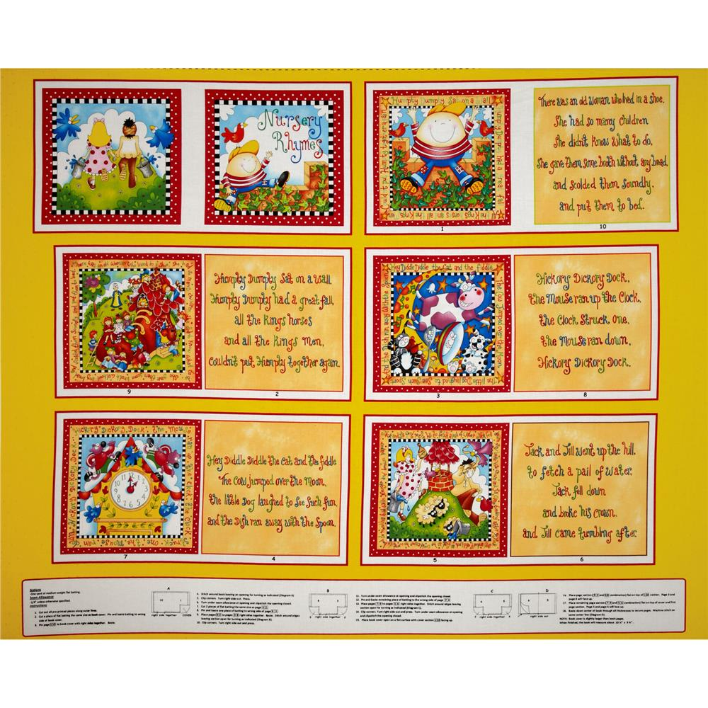 Story Time Rhymes Soft Book Panel Yellow