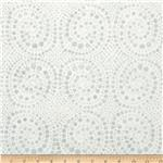 Batavian Batiks Spiral Dots Grey