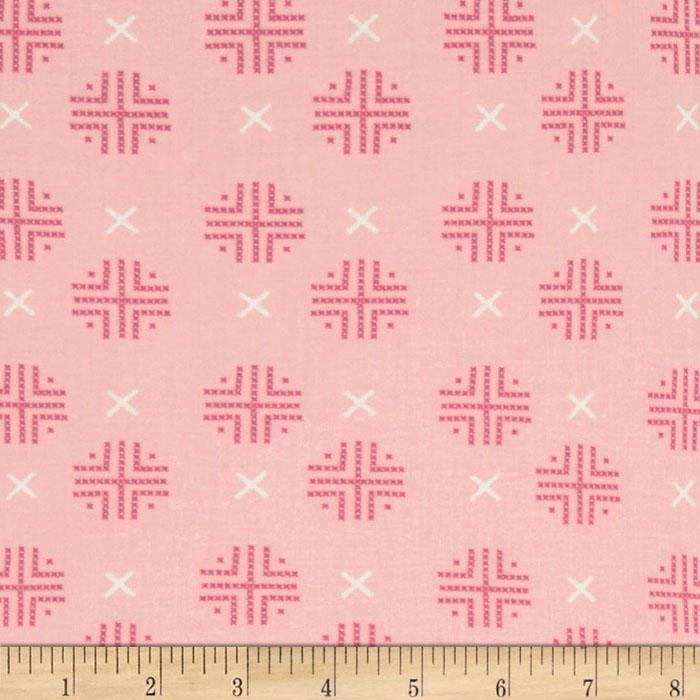 Moda Sew Stitchy Check Dot Carnation