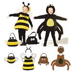 Kwik Sew Unisex Children's Spider & Bumble Bee Constumes & Treat Bags Pattern