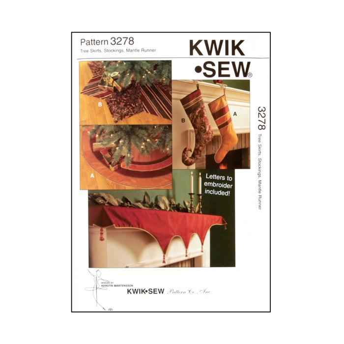 Kwik Sew Tree Skirts, Stockings, Mantle Runner Pattern