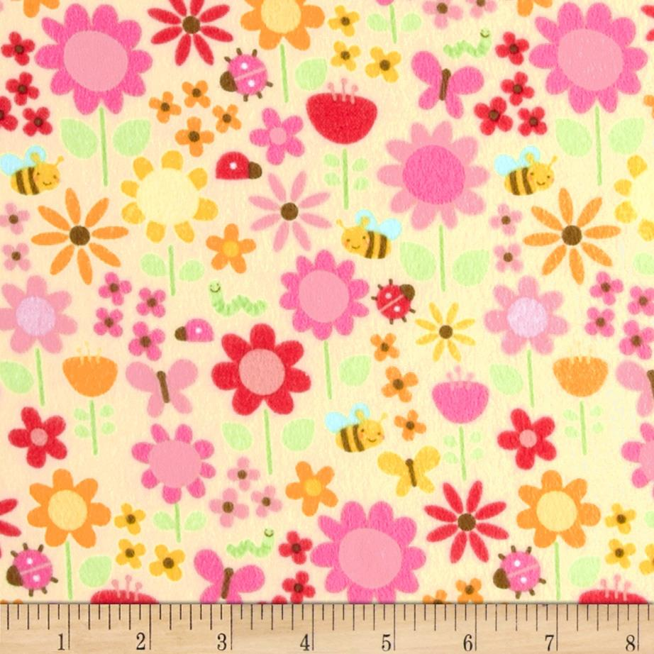 Riley Blake Ladybug Garden Flannel Large Floral Yellow