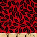 0264182 Wild Things Tossed Leaves Red