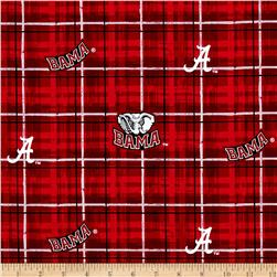 Collegiate Cotton Broadcloth University of Alabama Plaid Red