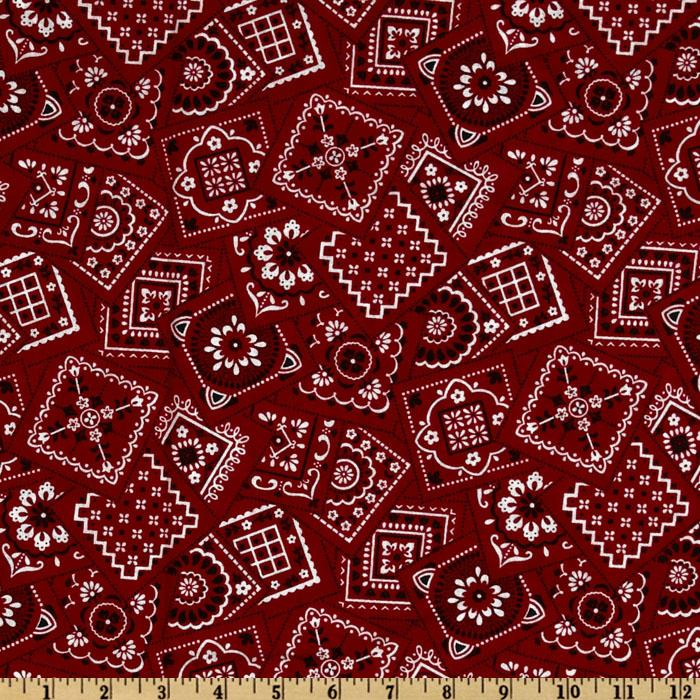 Best Bandanas Square Red