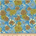 Love Grows Ikat Floral Blue/Olive