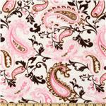 DB-336 Minky Cuddle Paisley Mocha/Pink