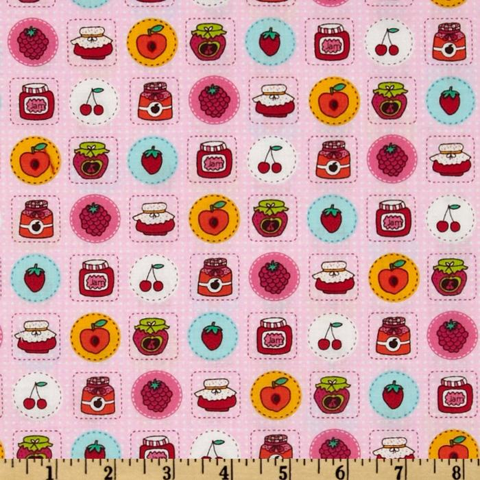 Timeless Treasures Fruit Patch Pink