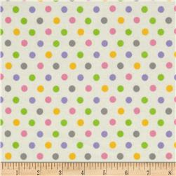 Flannel Multi Dots Pink
