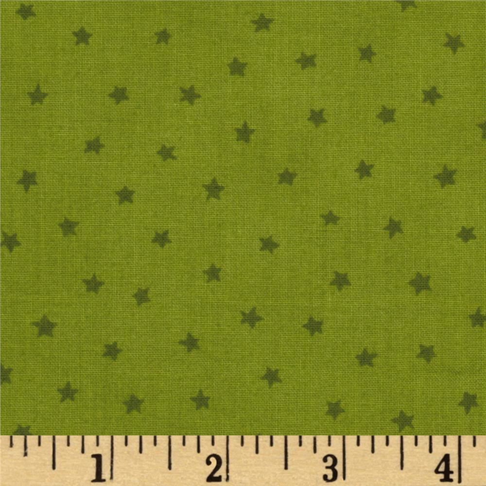 "Moda Happy H""owl""o-ween Stars Green"