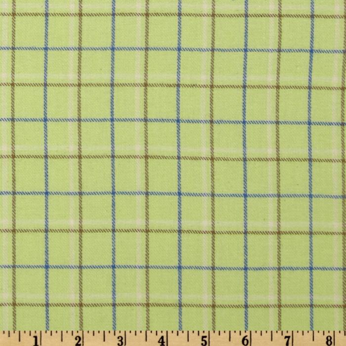 Yarn Dyed Fun Flannel Plaid Lime