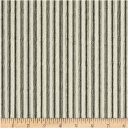 "44"" Ticking Stripe Twill Hunter Green"
