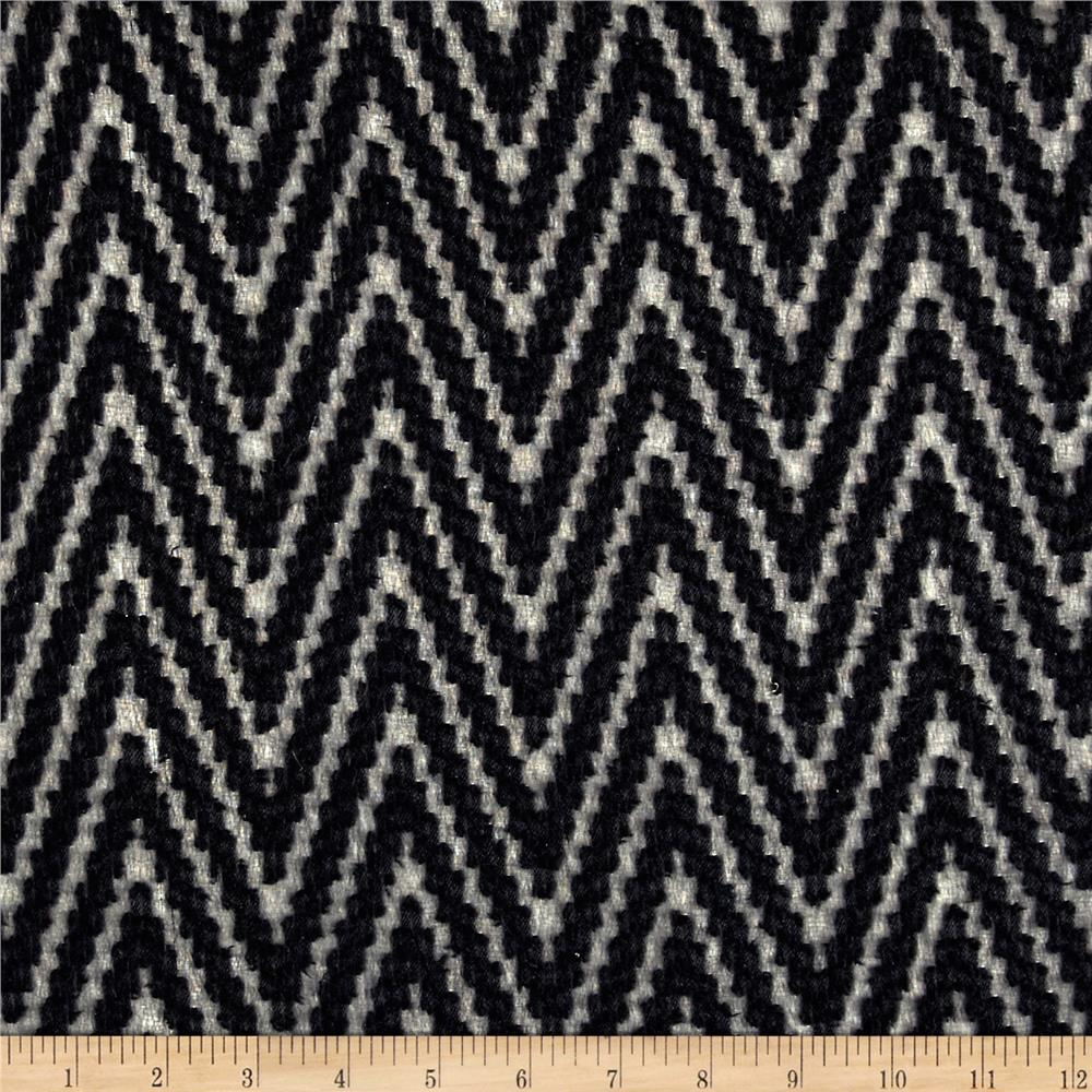 Palermo Chiffon Chevron Black