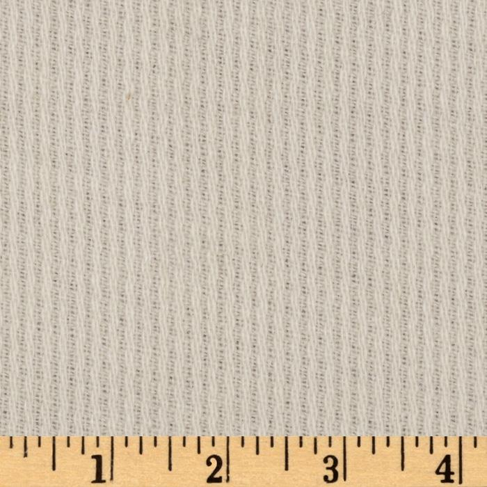 Wool Blend Coating Ribbed Ivory