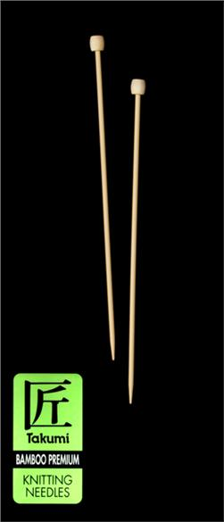 Clover Takumi Bamboo Premium Knitting Needles Single Pt. 9'' -US 6 (4mm)