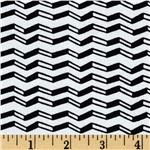 229848 Chevron Stripe White