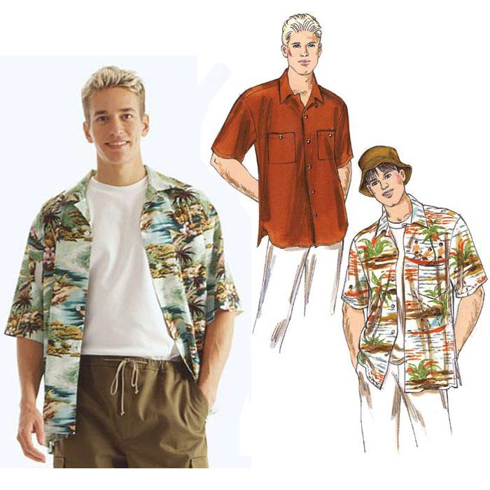 Kwik Sew Men's Shirts & Hat Pattern