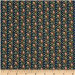0272727 The Cocheco Mills Collection Floral Stripes Navy