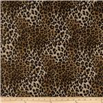Safari Shimmer Stretch ITY Knit Jaguar Gold Speckle/Brown
