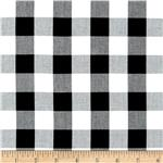 Woven 1&#39;&#39; Cotton Carolina Gingham Black/White