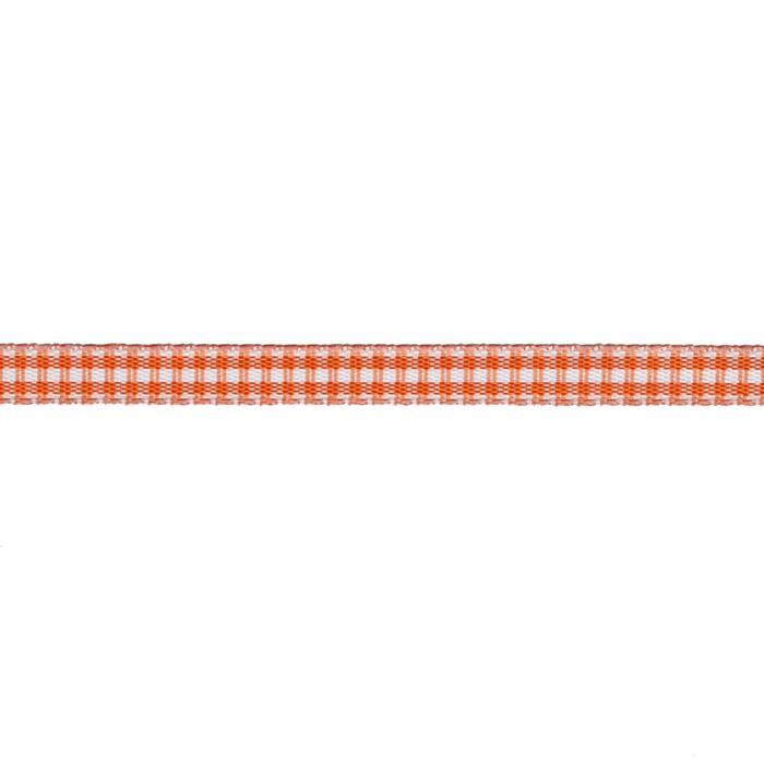 "1/4"" Yarn Dyed Checker Ribbon Orange"