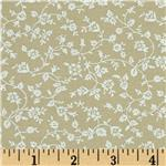 0289210 Tone on Tone Small Floral Vines Khaki