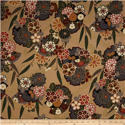 Asuka Metallic Asian Floral Antique/Gold