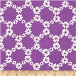0273898 Michael Miller Happy Tones Jemma Floral Lattice Purple