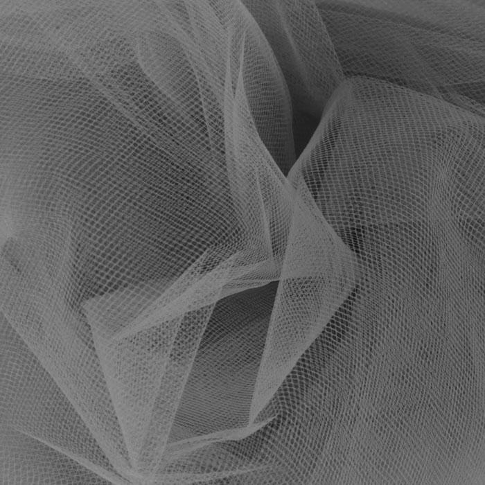 108'' Wide  Nylon Tulle Charcoal
