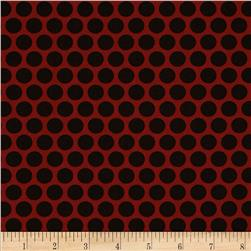 Retro Geo Polka Dot Red/Black