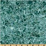 Batavian Batiks Berries &amp; Holly Light Teal