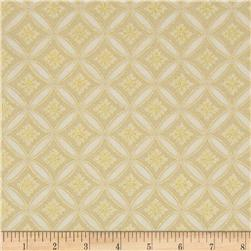 Christmas Carols Metallics Floral Grid Ivory