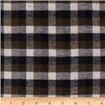 Yarn Dyed Flannel Check Brown/Black/Ivory