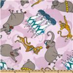 Madagascar Characters Fleece Pink