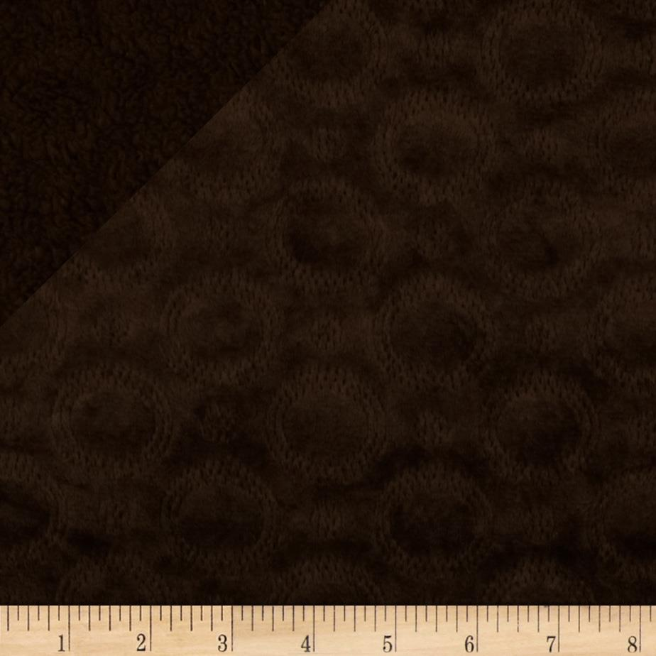 Minky Cuddle Quilted Crop Circles Chocolate