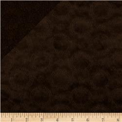 Minky Quilted Crop Circles Chocolate