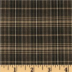 Yarn Dyed Plaid Suiting Black/Cream
