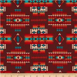 Tucson Beaded Blanket Terra Cotta