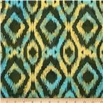 Indian Batik Ikat Green/Multi