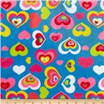 Minky Cuddle Hearts Blue