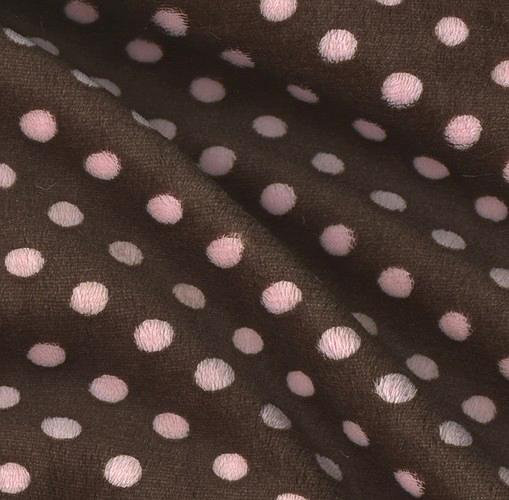 Minky Cuddle Mini Polka Dots Brown/Baby Pink